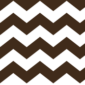 chevron lg brown and white