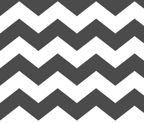 chevron lg dark grey and white fabric by misstiina on Spoonflower - custom fabric