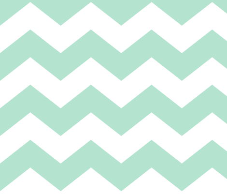 chevron lg mint green and white