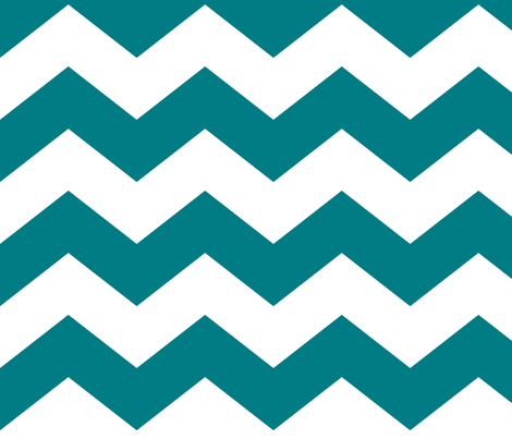 chevron lg dark teal and white fabric by misstiina on Spoonflower - custom fabric