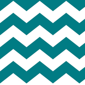 chevron lg dark teal and white