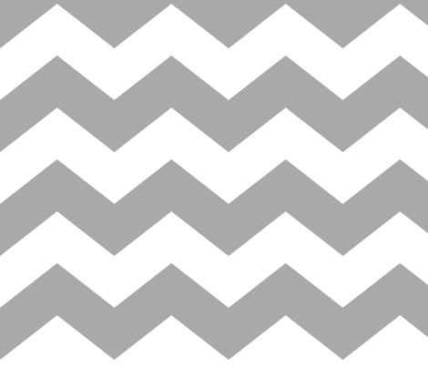 chevron lg grey and white fabric by misstiina on Spoonflower - custom fabric