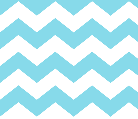 chevron lg sky blue fabric by misstiina on Spoonflower - custom fabric