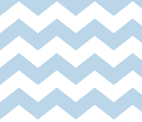 chevron lg powder blue and white