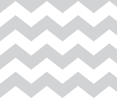chevron lg light grey and white fabric by misstiina on Spoonflower - custom fabric