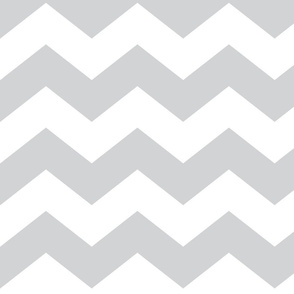 chevron lg light grey and white