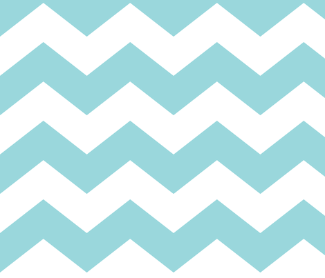 chevron lg teal and white fabric by misstiina on Spoonflower - custom fabric