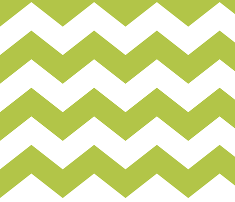 chevron lg lime green and white fabric by misstiina on Spoonflower - custom fabric