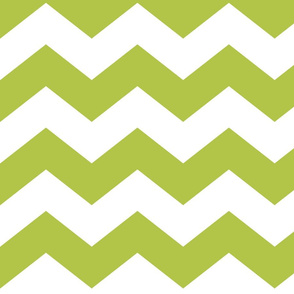 chevron lg lime green and white
