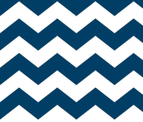 chevron lg navy blue and white fabric by misstiina on Spoonflower - custom fabric