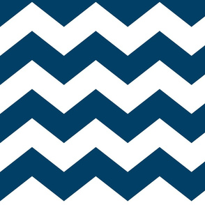 chevron lg navy blue and white