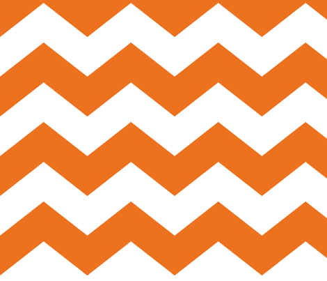 chevron lg orange and white fabric by misstiina on Spoonflower - custom fabric