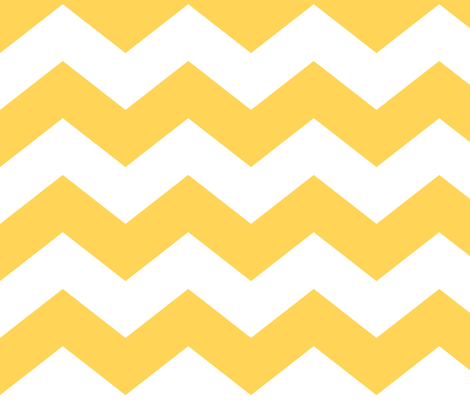 chevron lg yellow and white fabric by misstiina on Spoonflower - custom fabric