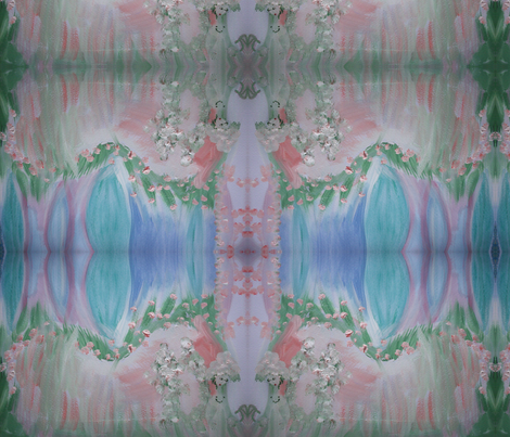 Pink Garden fabric by myartself on Spoonflower - custom fabric