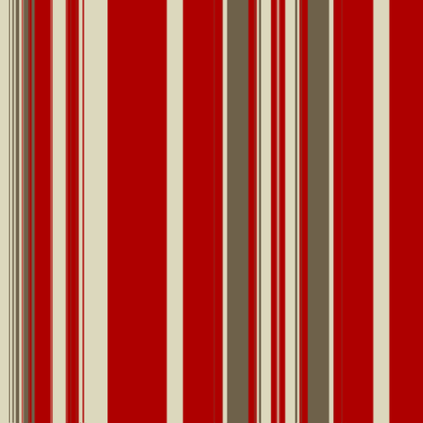 Red Mud Linen Stripe fabric by marie_s on Spoonflower - custom fabric