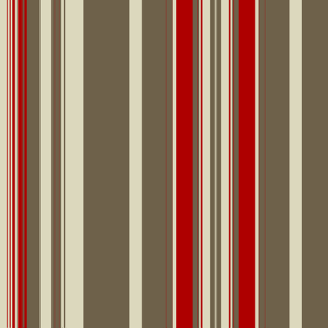 Mud Red Linen Stripe