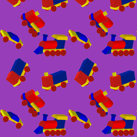 Block Trucks on Purple fabric by carmenscottagecreations on Spoonflower - custom fabric