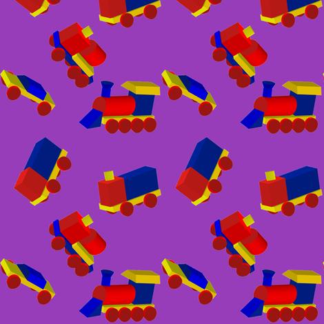 Block Trucks on Purple fabric by carmenscottagecreations on Spoonflower - custom fabric