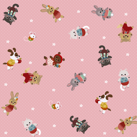 Spring Critters fabric by thalita_dol on Spoonflower - custom fabric