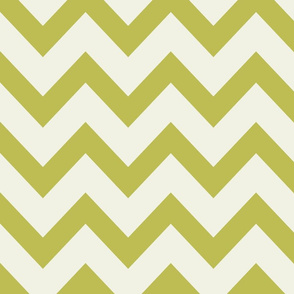 chevron april rain - green