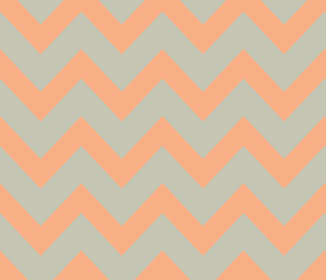 chevron - salmon & gray fabric by ravynka on Spoonflower - custom fabric