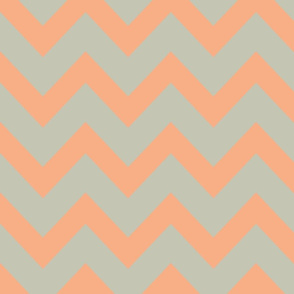 chevron - salmon & gray