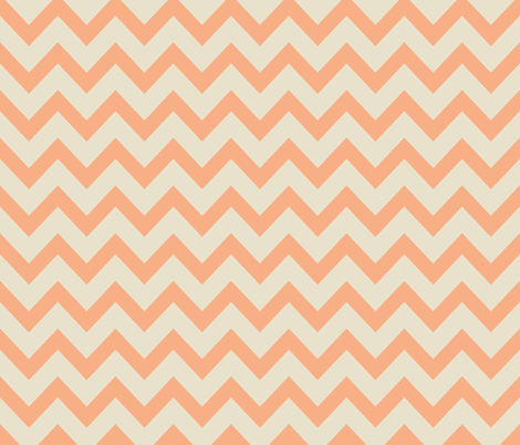 chevron - salmon & off white fabric by ravynka on Spoonflower - custom fabric