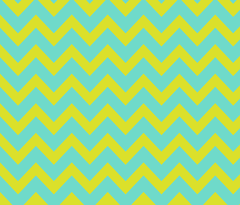chevron - apple green & turquoise fabric by ravynka on Spoonflower - custom fabric