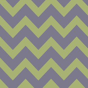 chevron - celadon & pale purple