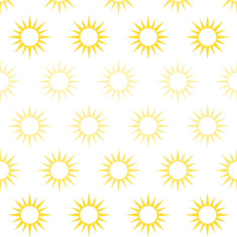 Sun Mirrors in ombre yellow fabric by domesticate on Spoonflower - custom fabric
