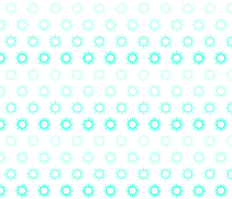 Sun Mirrors in ombre turquoise fabric by domesticate on Spoonflower - custom fabric