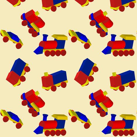 Block Trucks on Beige fabric by carmenscottagecreations on Spoonflower - custom fabric