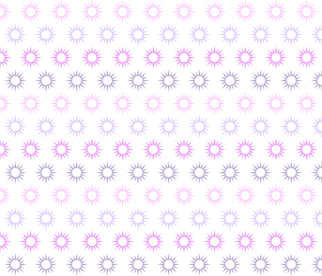 Sun Mirrors in multi violets fabric by domesticate on Spoonflower - custom fabric