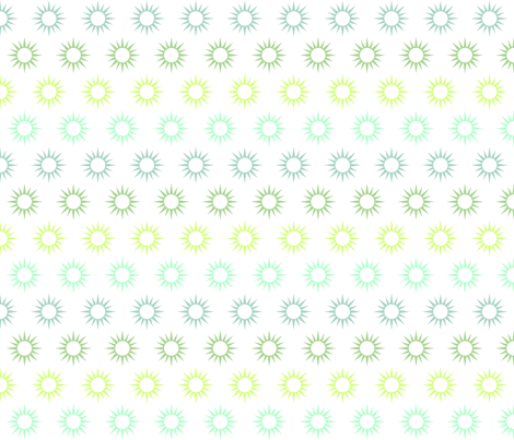 Sun Mirrors in multi greens fabric by domesticate on Spoonflower - custom fabric