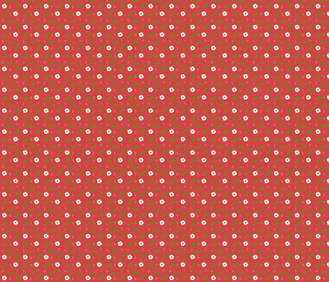 Berry Blossoms fabric by inktreepress on Spoonflower - custom fabric