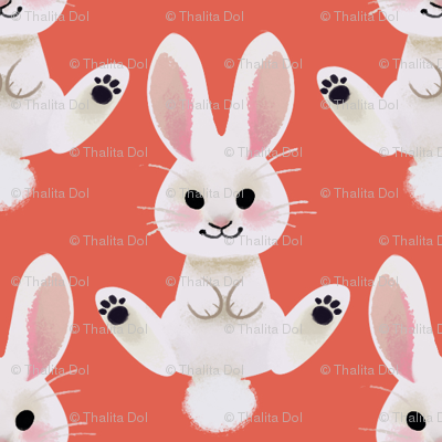 Spring Bunny (red)