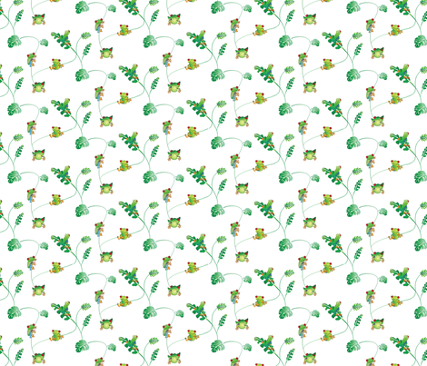 Lots of little tree frogs fabric by ebygomm on Spoonflower - custom fabric
