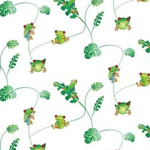 Lots of little tree frogs
