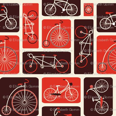 Retro Red Bicycle Love