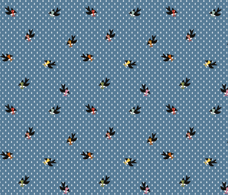 Spring Birds fabric by thalita_dol on Spoonflower - custom fabric