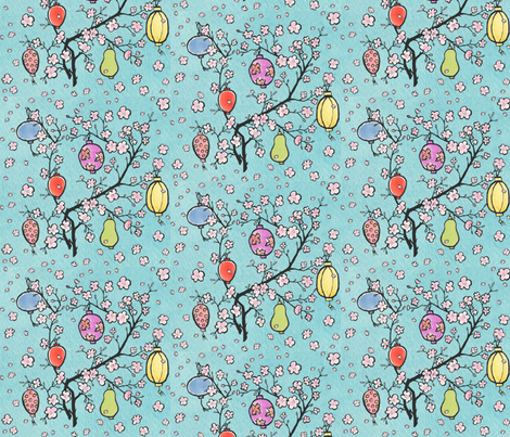 Paper Lantern Festival! fabric by pattyryboltdesigns on Spoonflower - custom fabric