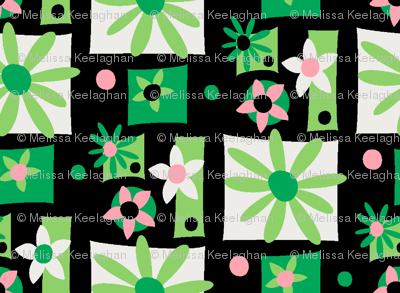 Surfer Girl Flowers (black)