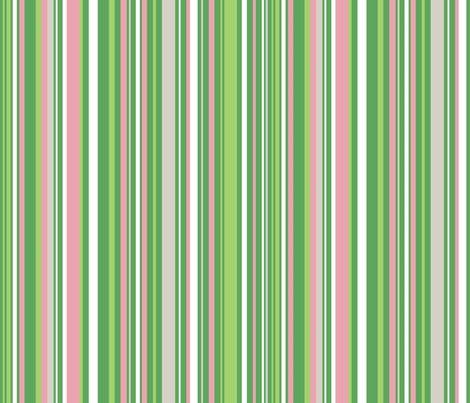 Surfer Girls Stripe (white) fabric by happyjonestextiles on Spoonflower - custom fabric