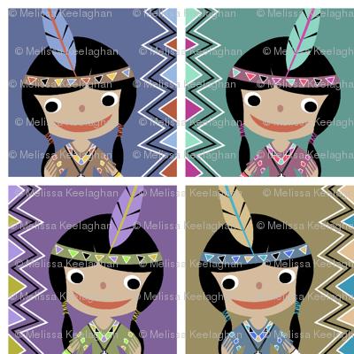 Native American Girl colors