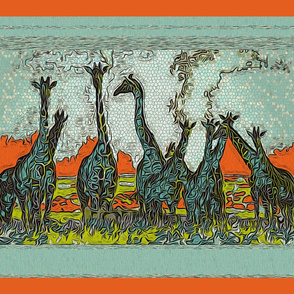 """Giraffe Horizon"" (pillows)"
