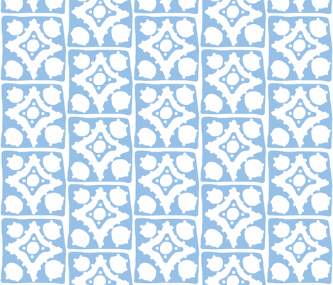 Spotty Diamond Tile (blue) fabric by pattyryboltdesigns on Spoonflower - custom fabric