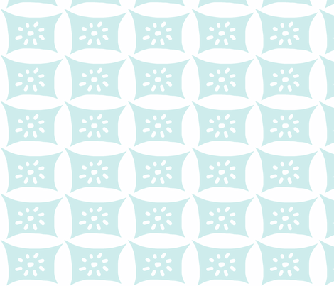 Dotty Pillow with Dots (lt. aqua) fabric by pattyryboltdesigns on Spoonflower - custom fabric