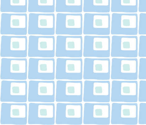 Square Spots (sky blue and light aqua) fabric by pattyryboltdesigns on Spoonflower - custom fabric