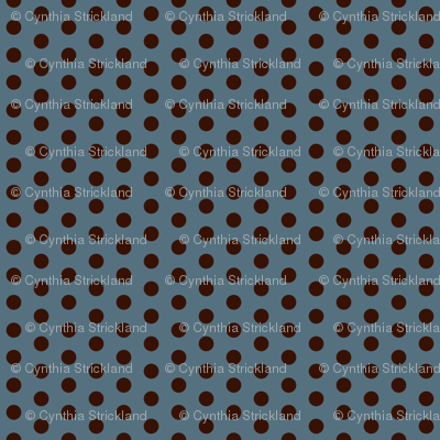 Crossfit Coordinate Choco Dots on Blue