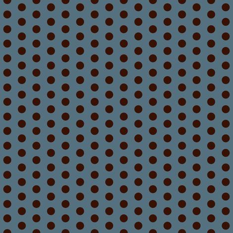 Crossfit Coordinate Choco Dots on Blue fabric by cksstudio80 on Spoonflower - custom fabric